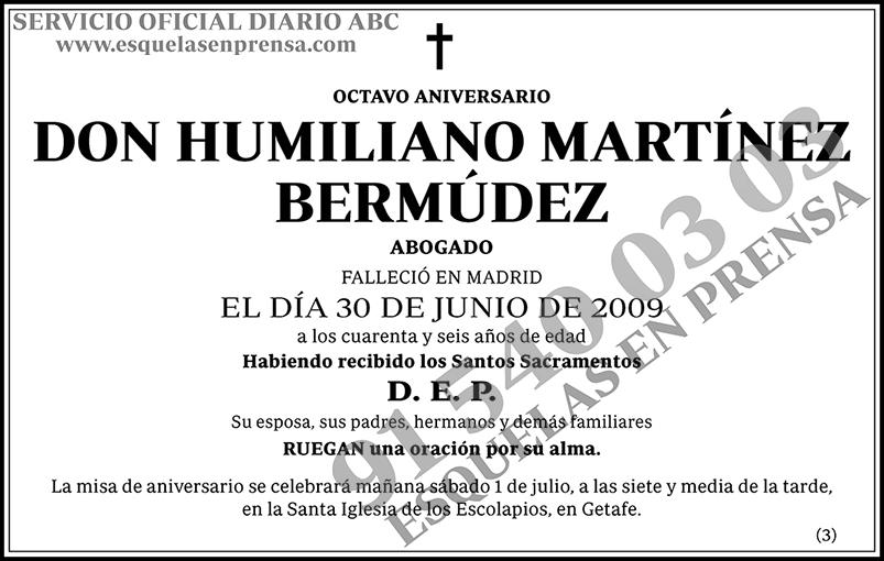 Humiliano Martínez Bermúdez
